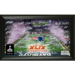 "New England Patriots Super Bowl XLIX Champions ""Celebration"" Signature Photo"