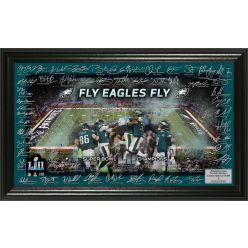 Philadelphia Eagles Super Bowl 52 Champions Signature Grid Frame