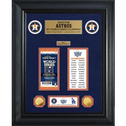 Houston Astros World Series Deluxe Gold Coin & Ticket Collection