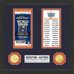 Houston Astros World Series Ticket Collection