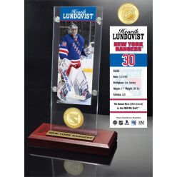 Henrik Lundqvist Ticket & Bronze Coin Acrylic Desktop