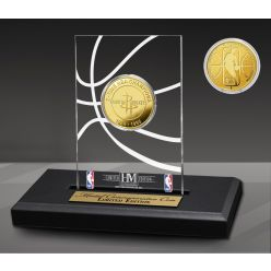 Houston Rockets 2-Time Gold Coin Acrylic Desk Top