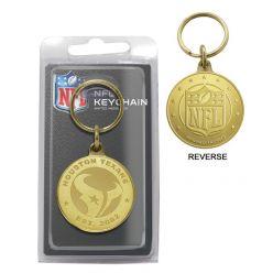 Houston Texans Bronze Bullion Keychain