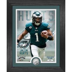 Jalen Hurts Philadelphia Eagles Silver Coin Photo Mint