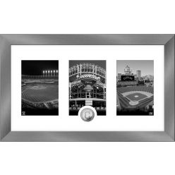 Cleveland Indians Panoramic Art Deco Silver Coin Photo Mint