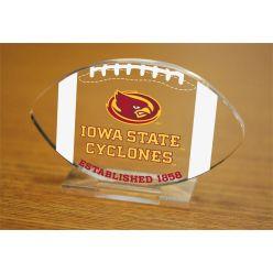 Iowa State University Etched Football Acrylic