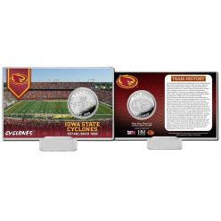 Iowa State University Team History Silver Coin Card