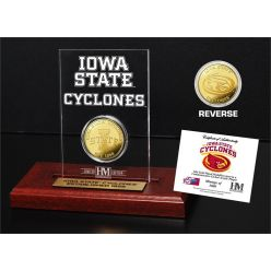 Iowa State University Gold Coin Etched Acrylic