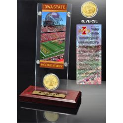 Iowa State University Ticket & Bronze Coin Acrylic Desktop