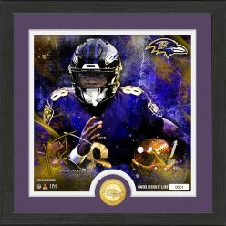 """Lamar Jackson """"Surge"""" Bronze Coin Signature Photo Mint"""