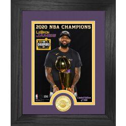 LeBron James 2020 NBA Champion Los Angeles Lakers Bronze Coin Photo Mint