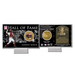 Johnny Bench Class of 1989 Hall of Fame Bronze Coin Card