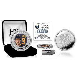 Jack Eichel Color Silver Coin