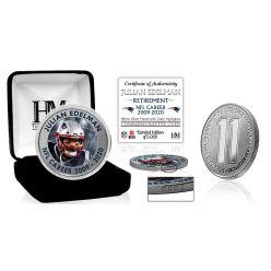 Julian Edelman NFL Career Silver Coin