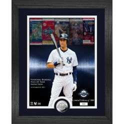 Derek Jeter 2020 Hall of Induction WS Champ Silver Coin Photo Mint