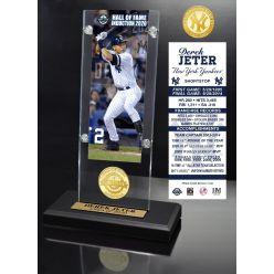 Derek Jeter 2020 HOF Ticket & Bronze Coin Acrylic Desk Top