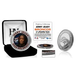 Denver Bronocos Jerry Jeudy 2020 NFL Draft 1st Round Silver Coin