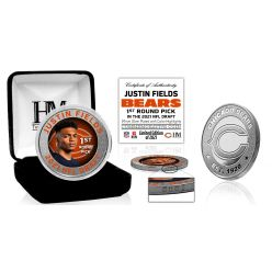 Justin Fields Chicago Bears 2021 NFL Draft 1st Round Pick Silver Mint Coin
