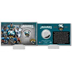 Jacksonville Jaguars 25th Anniversary Color Silver Coin Card