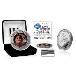 Justin Jefferson Minnesota Vikings 2020 NFL Draft 1st Round Silver Coin