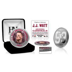 JJ Watt Arizona Cardinals 99 Color Silver Coin
