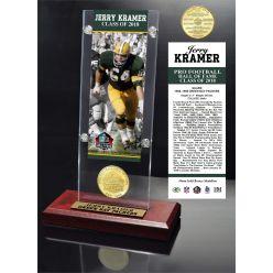 Jerry Kramer 2018 Pro Football HOF Induction Ticket & Bronze Coin Acrylic Desk Top