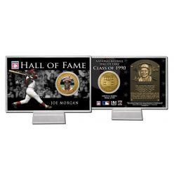 Joe Morgan Class of 1990 Hall of Fame Bronze Coin Card