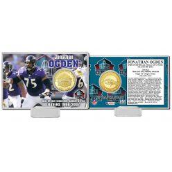 Jonathan Ogden Class Of 2013 HOF Bronze Coin Card