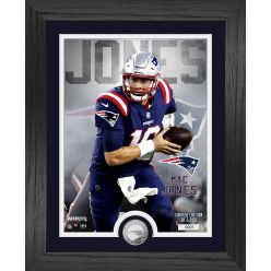 Mac Jones New England Patriots Rookie Silver Coin Photo Mint