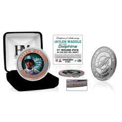 Jaylen Waddle Miami Dolphins 2021 NFL Draft 1st Round Pick Silver Mint Coin
