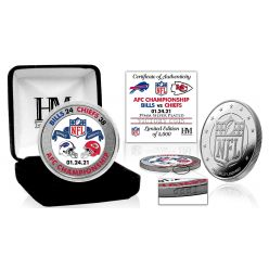 Kansas City Chiefs 2020 AFC Conference Champions Game Victory Silver Mint Coin