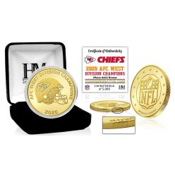 Kansas City Chiefs 2020 AFC West Division Champions Bronze Mint Coin