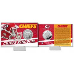 Kansas City Chiefs Team History Silver Coin Card