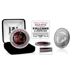 Kyle Pitts Atlanta Falcons 2021 NFL Draft 1st Round Pick Silver Mint Coin