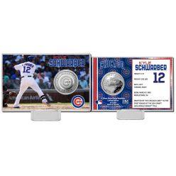 Kyle Schwarber Silver Coin Card