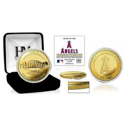 """Los Angeles Angels """"Stadium"""" Gold Mint Coin"""
