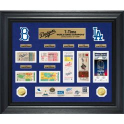 Los Angeles Dodgers 7-Time World Series Champions Gold Coin & Ticket Collection