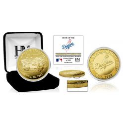 """Los Angeles Dodgers """"Stadium"""" Gold Mint Coin"""