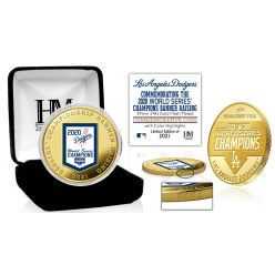 Los Angeles Dodgers Gold 2020 Champions Banner Raising Mint Coin