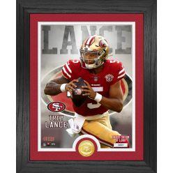 Trey Lance San Francisco 49ers Rookie Bronze Coin Photo Mint