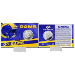 Los Angeles Rams 2020 Team History Coin Card