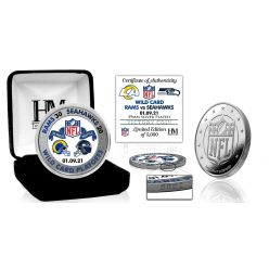 Los Angeles Rams 2020/21 NFC Wild Card Game Victory Silver Mint Coin