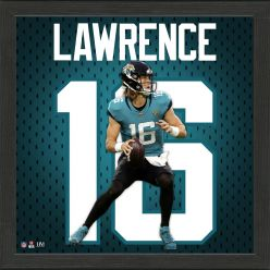 Trevor Lawrence Rookie Impact Jersey Frame