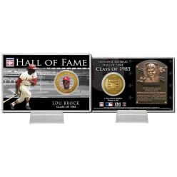 Lou Brock Class of 1983 Hall of Fame Bronze Coin Card