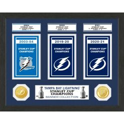 Tampa Bay Lightning Stanley Cup Banner Collection Photo Mint