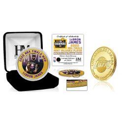 LeBron James Los Angeles Lakers 2020 NBA Finals MVP Bronze Mint Coin
