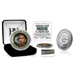 Green Bay Packers Jordan Love 2020 NFL Draft 1st Round Silver Coin