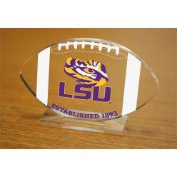 Louisiana State University Etched Football Acrylic