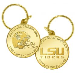 Louisiana State University Bronze Coin Keychain
