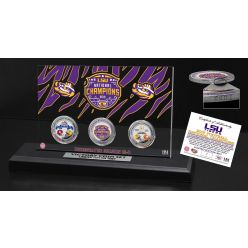 Louisiana State University Tigers 2019 National Champions Victory 3-Coin Set